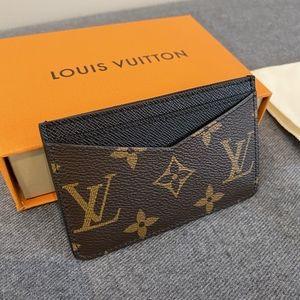 Louis Vuitton Brown and Black Monogram Cardholder